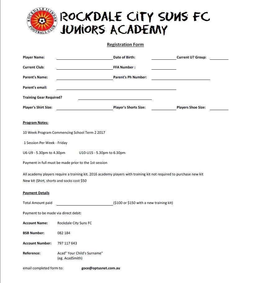 Academy for juniors